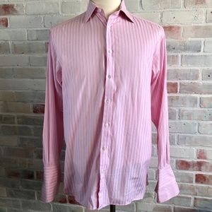 Thomas Pink French Cuff Button Front Dress Shirt